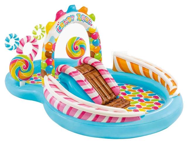 Купить Игровой центр INTEX Территория сладостей с горкой 295x191x130 см, Детские бассейны