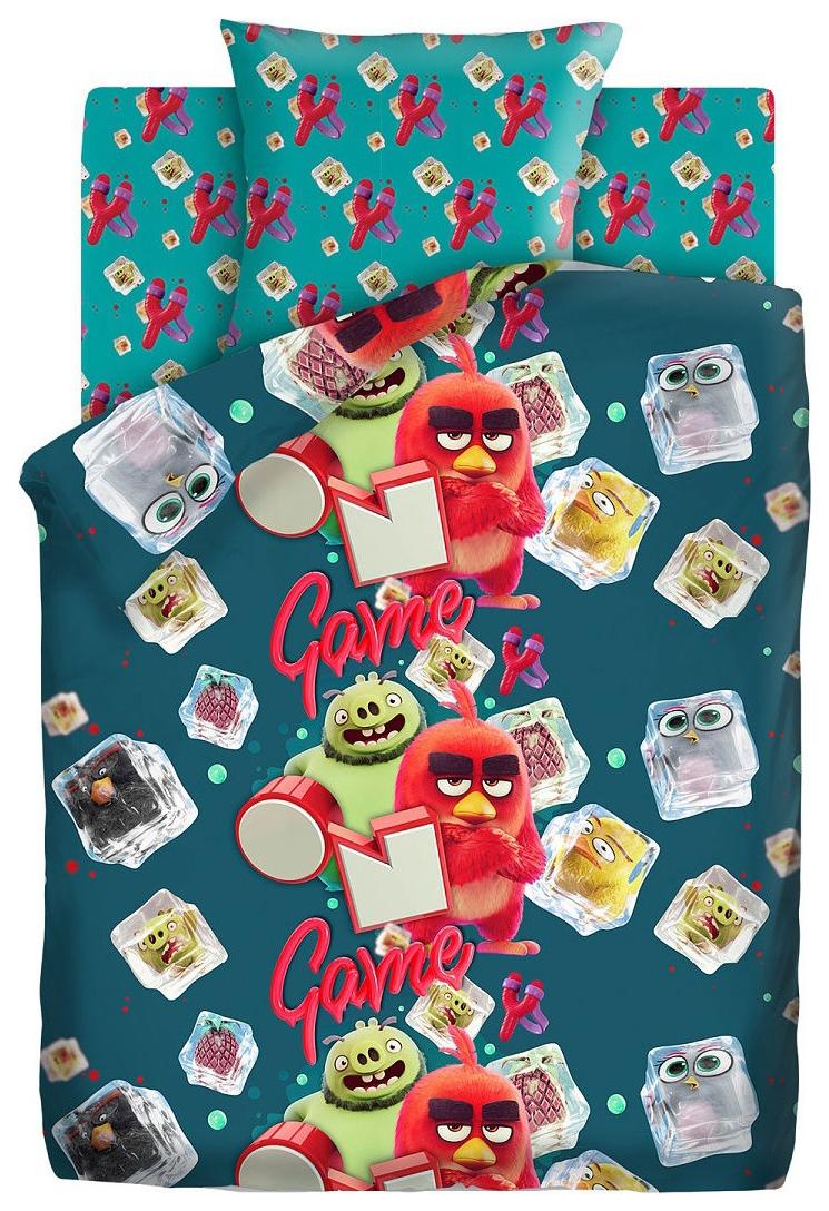 Комплект постельного белья Angry Birds 2 полутораспальный, 16227-1/16228-1 Заморозка