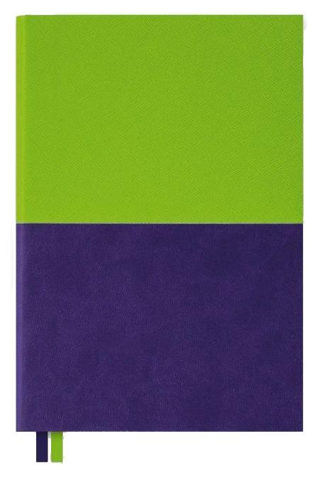 Ежедневник недатированный Феникс+ «Сафьян + Софт-тач» А5 160 листов Зеленый/Фиолетовый