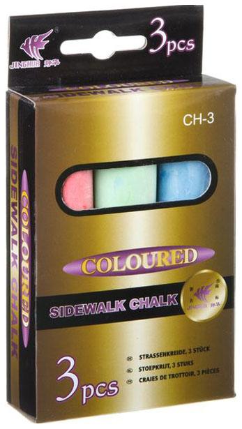 Набор цветных мелков, 3 шт, 10х2,5х2,1 см.,