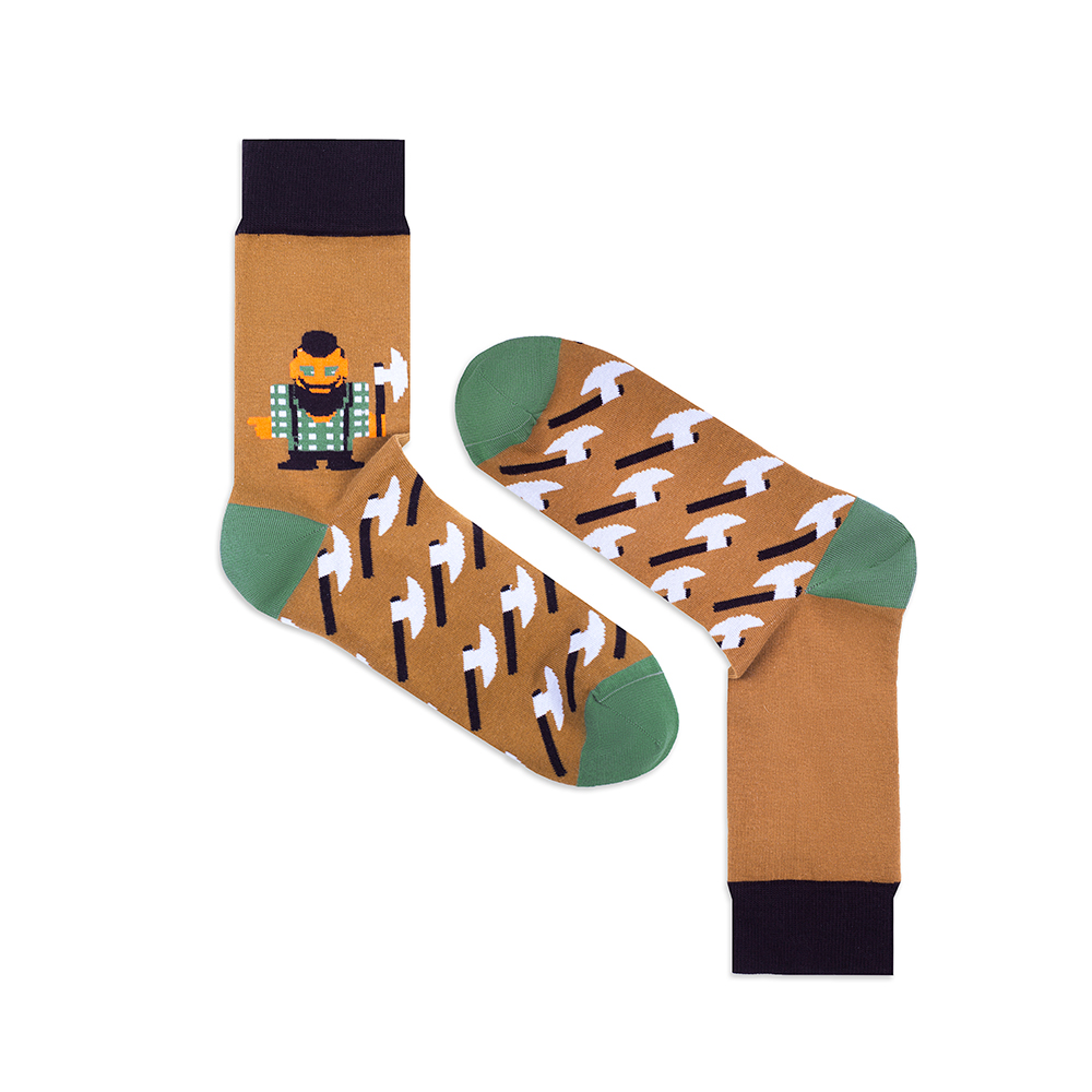 Носки унисекс Burning heels Ламберджек коричневые 36-38