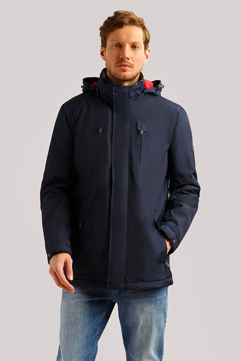Куртка мужская Finn Flare B19-42008 синий S фото