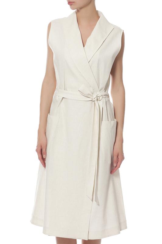 Платье женское LORENA ANTONIAZZI LP3315X1/2715/0110 белое 46 IT