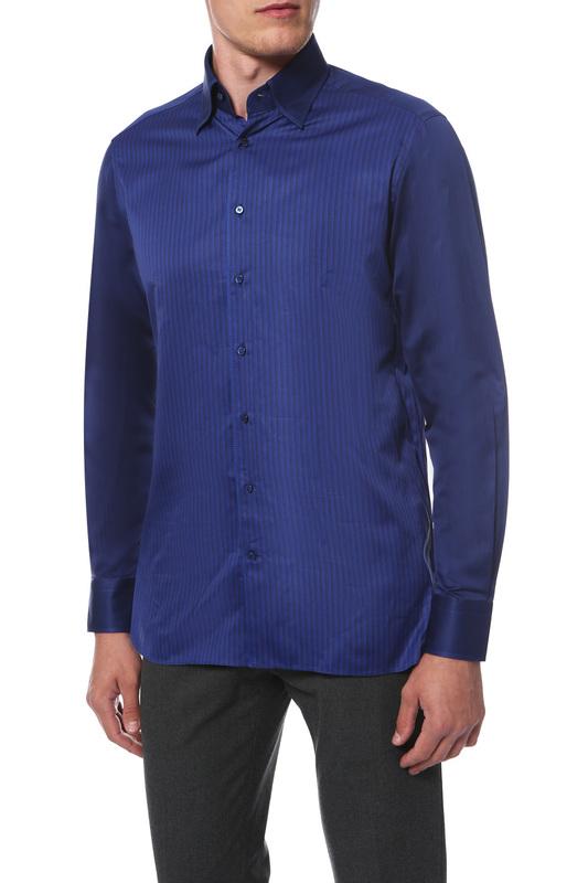 Рубашка мужская Zilli 601I281008002 синяя 40 IT 601I281008002 по цене 18 990