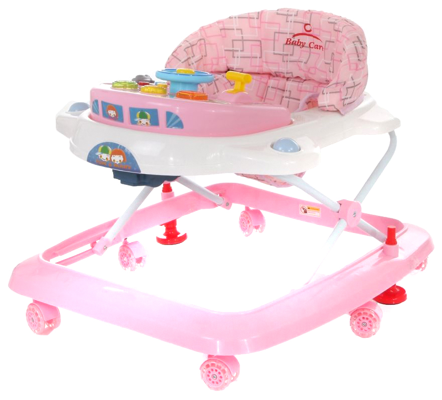 Купить Ходунки Baby care tom&mary pink, Ходунки детские