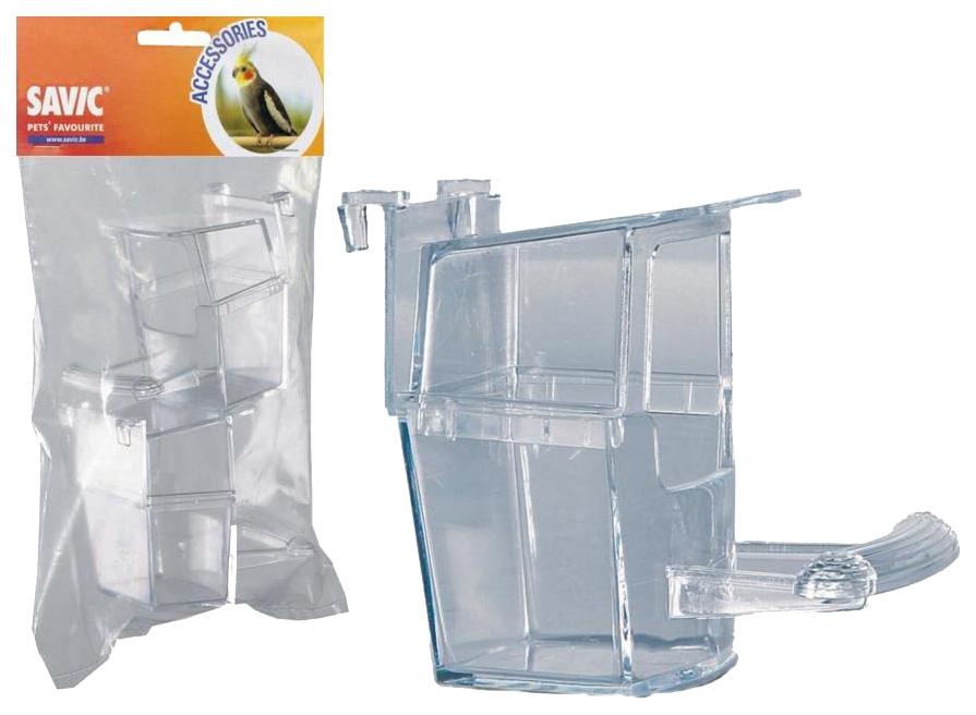 Кормушка для птиц Savic, пластик, прозрачный,