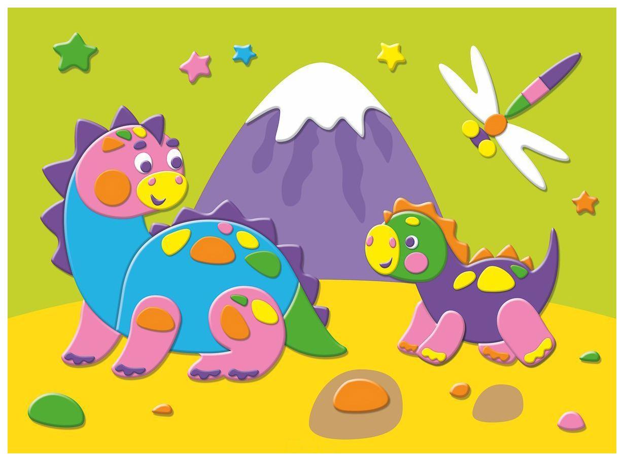 Купить Аппликация Дрофа-Медиа Динозавры на прогулке, Детские аппликации