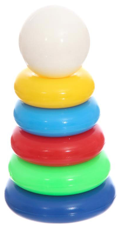 Купить Развивающая игрушка Совтехстром Пластиковая пирамидка 6 деталей, Пирамидки для детей