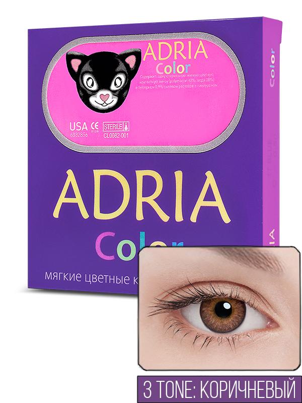 Контактные линзы ADRIA COLOR 3 TONE 2 линзы -1,50 brown фото