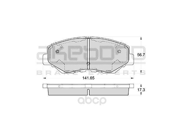 Колодки тормозные дисковые передние honda cr-v 02- 4wd Akebono AN-663WK фото