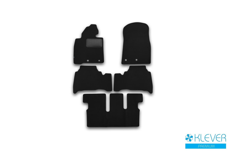 Коврики в салон Klever Premium для TOYOTA Land Cruiser 200, 7 мест, 2012, 5 шт. текстиль