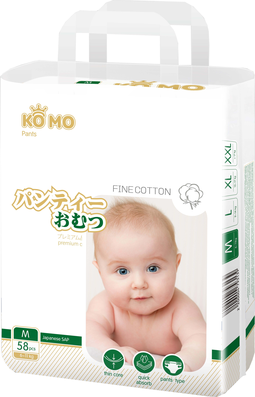 Купить Premium Quality, Трусики-подгузники Ko Mo M (6-11 кг) 58 шт., Подгузники-трусики