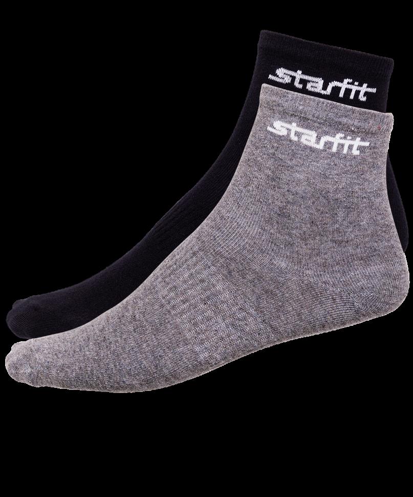 Носки StarFit SW-206, серый меланж/черные, 35-38 EU