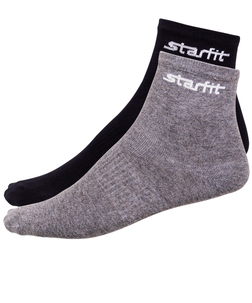 Носки StarFit SW 206, серый меланж/черные,