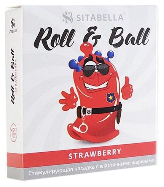 Купить Презерватив-насадка Roll Ball Strawberry, Sitabella