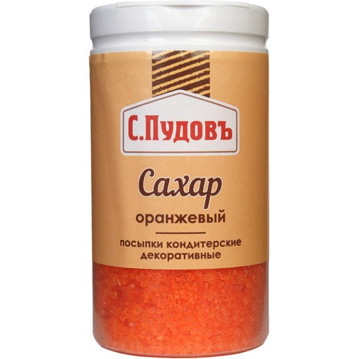 Посыпка сахар оранжевый С.Пудовъ 65 г фото