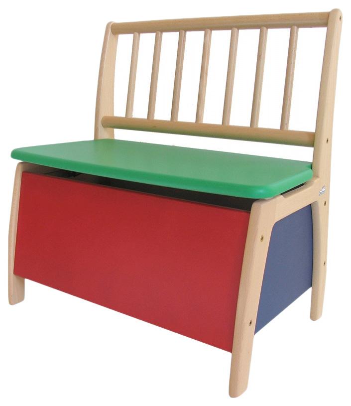 Купить Скамья игровая с ящиком для игрушек Geuther Bambino 2520 BT Цветной, Детские стульчики