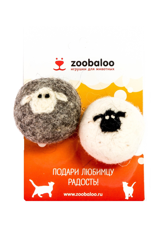 Игрушка для кошек Zoobaloo Набор шерстяных мячей
