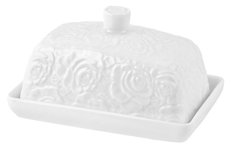 Масленка Elan Gallery Белые розы 860064