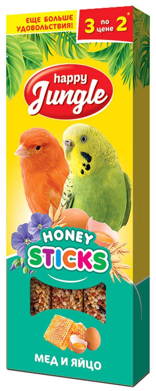 Лакомства для птиц Happy Jungle Мед
