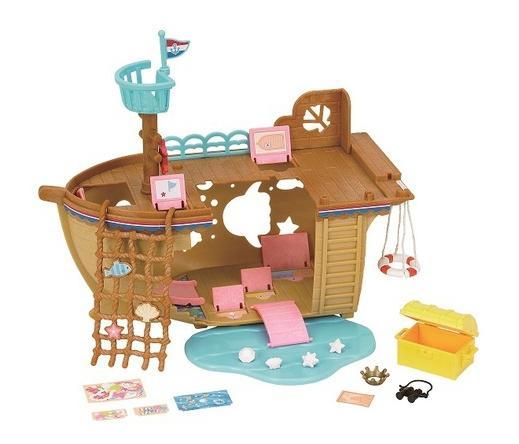 Купить Игровой набор sylvanian families детская площадка: сокровища морей,