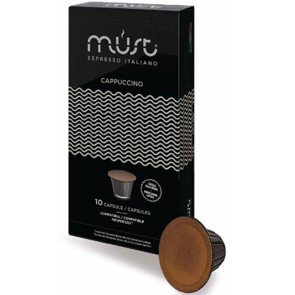 Капсулы Must cappuccino для кофемашин Nespresso 10 капсул для кофемашины
