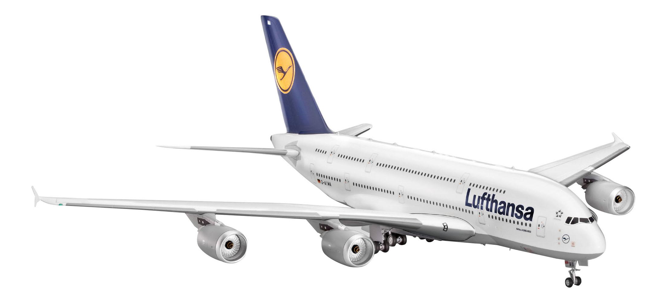 Купить Сборная модель аэробус a380 «lufthansa» (1/144), Revell, Модели для сборки