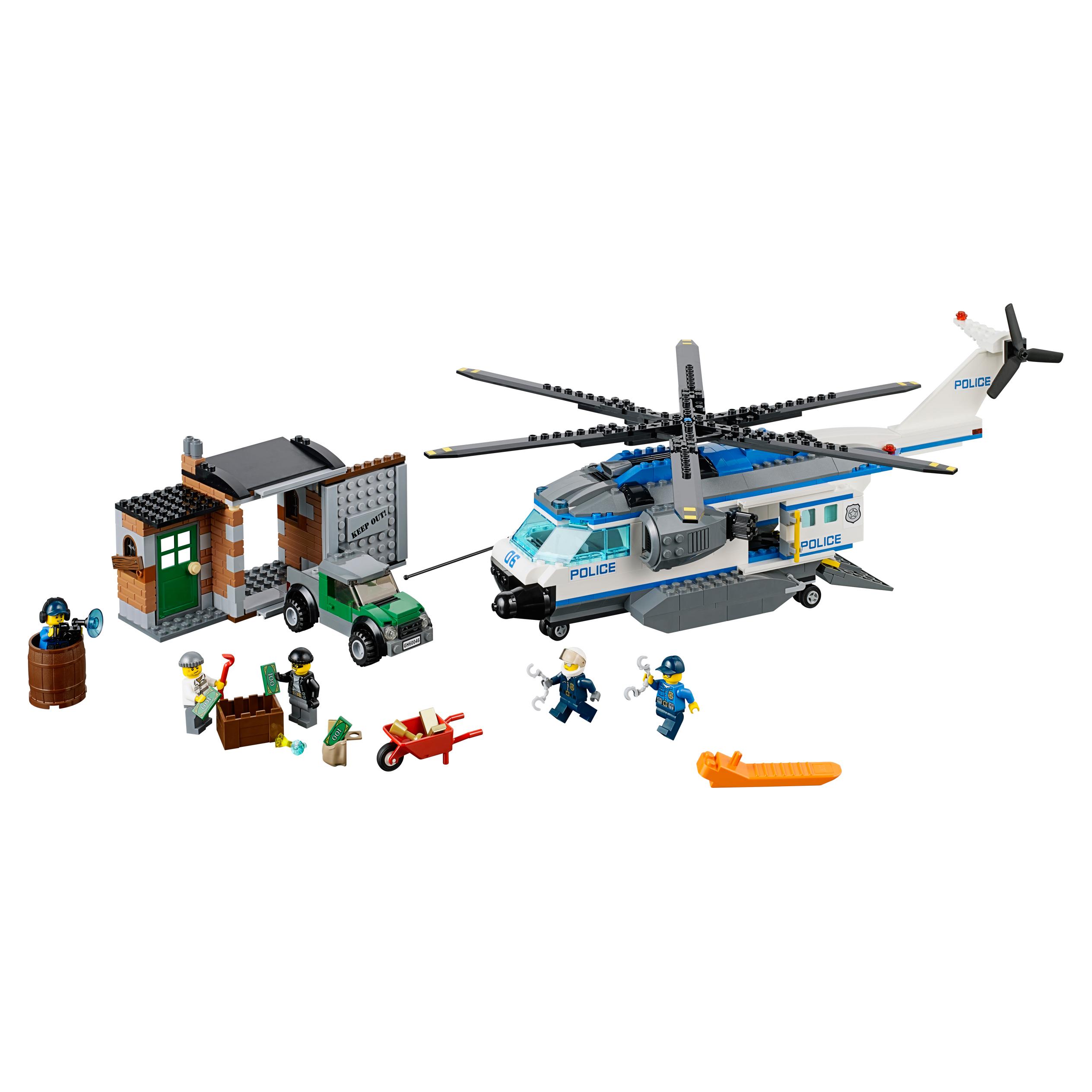 Конструктор LEGO City Police Вертолётный патруль (60046)