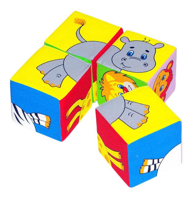 Купить Детские кубики Мякиши Кубики Животные 2 236, Развивающие кубики