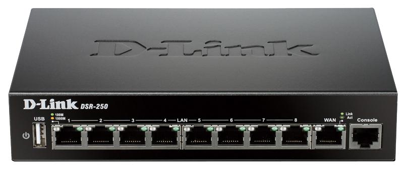 Сетевой экран D Link DSR 250 Black