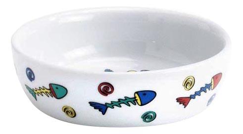 Одинарная миска для кошек I.P.T.S, керамика, белый,