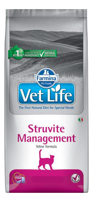 Сухой корм для кошек Farmina Vet Life Management Struvite, от струвитов, курица, 10кг
