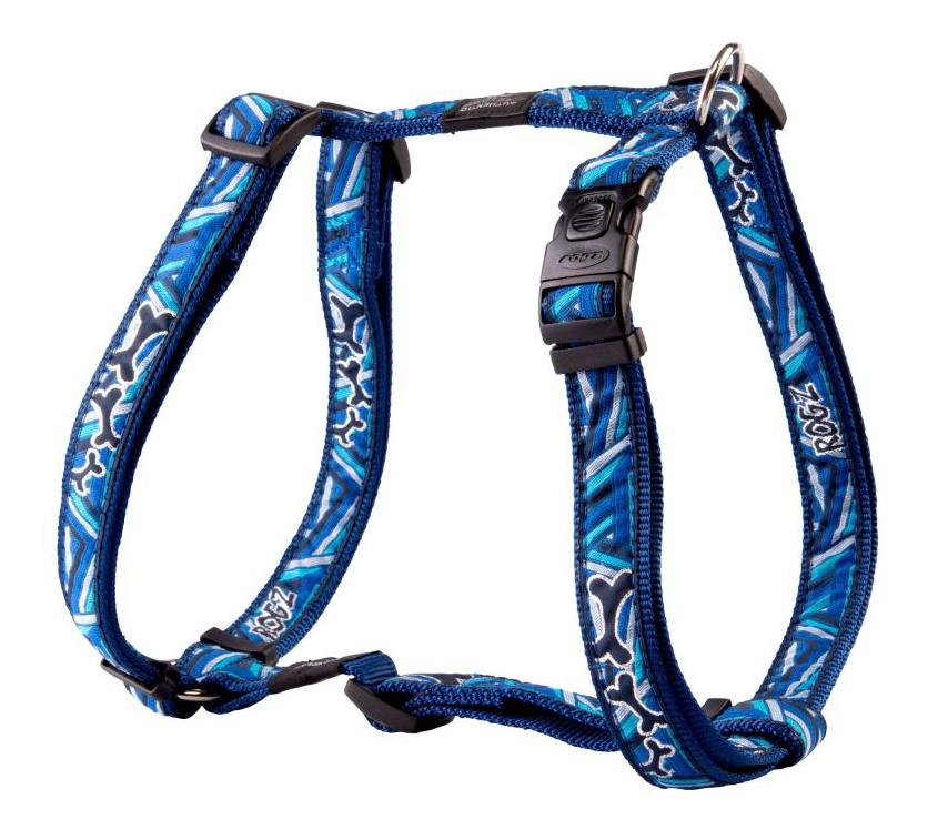 Шлейка для собак Rogz Fancy Dress XL-25мм (Синий SJ02CD)