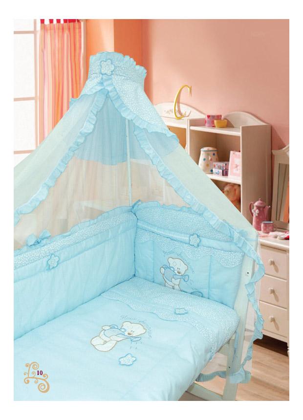 Комплект детского постельного белья Золотой Гусь 1412 голубой