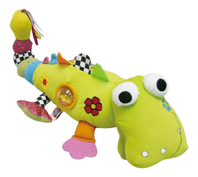"картинка Мягкая развивающая игрушка Biba Toys ""Крокодил"" от магазина Bebikam.ru"
