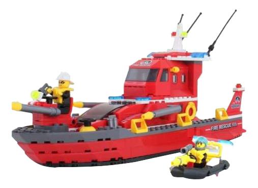 Конструктор пластиковый Детский Конструктор Brick Пожарный Катер 340 Дет 906