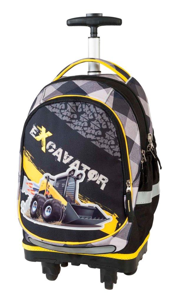 Рюкзак-тележка Экскаватор 2 чёрный с жёлтым 17934