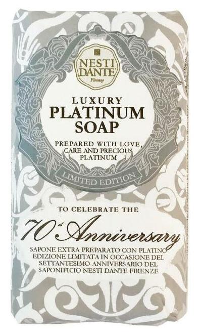 Косметическое мыло Nesti Dante Luxury Platinum Soap Юбилейное 23 карата 250 г фото