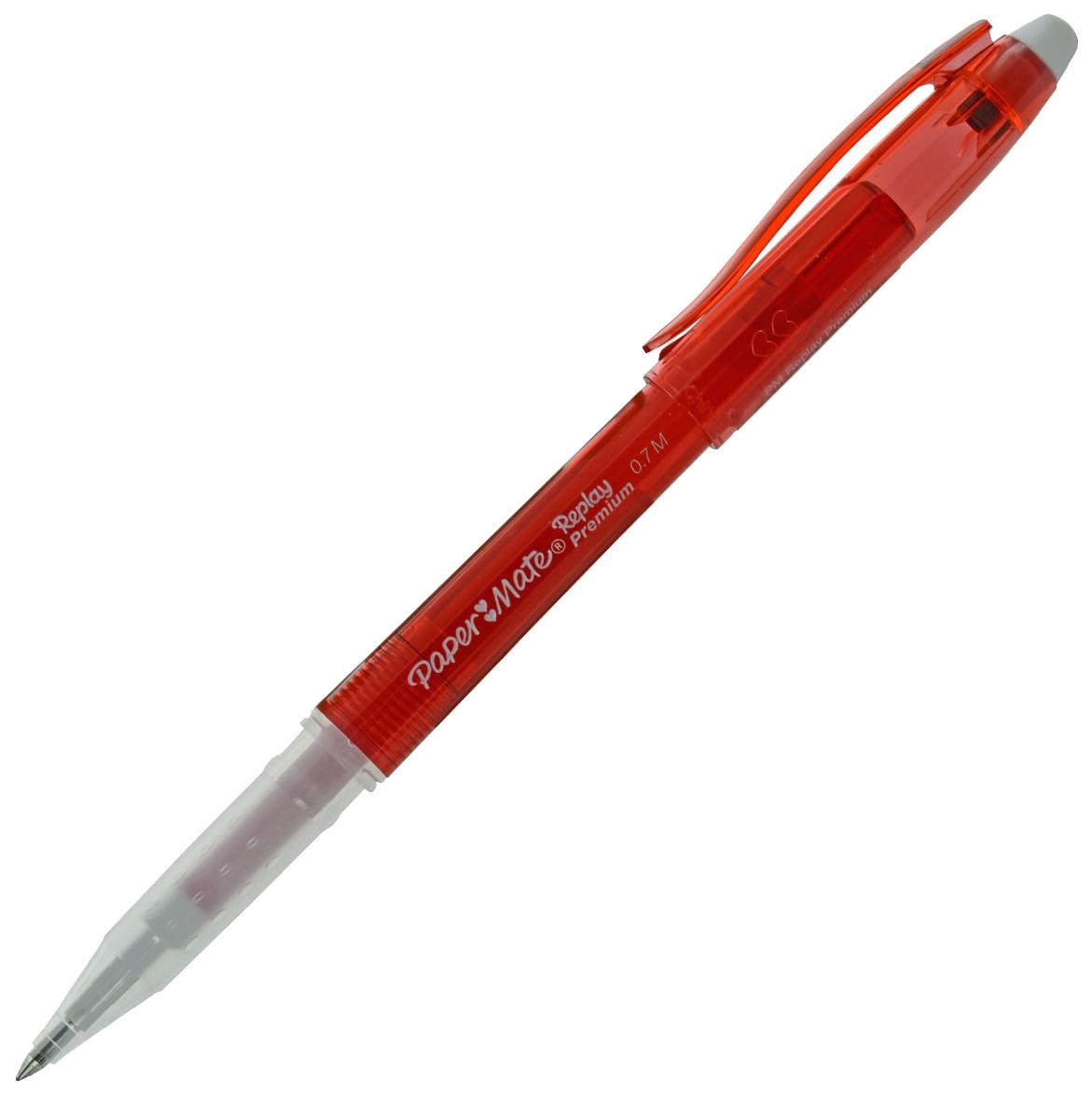 Ручка REPLAY PREMIUM С гелевыми стираемыми чернилами, с ластиком, красная 0,7мм