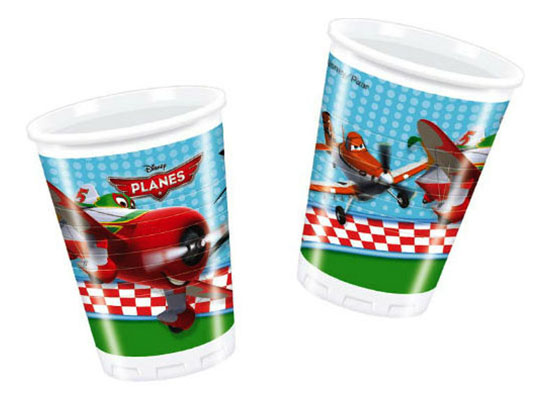 Одноразовые стаканы Самолеты Procos S.A. 180 мл 8 штук