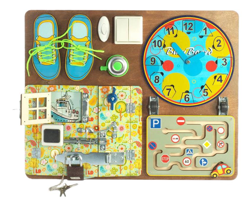 Купить Развивающая игрушка Бэмби Бизиборд для мальчиков, ТД Бэмби,