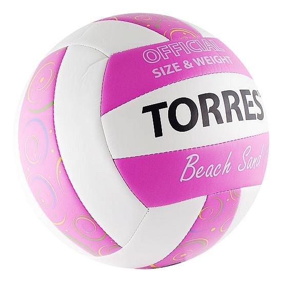 Волейбольный мяч Torres Torres Beach Sand Pink №5 pink фото