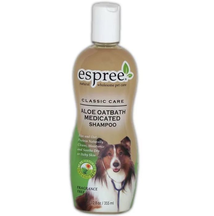 Шампунь для кошек и собак Espree Classic Care Aloe Oatbath Medicated алоэ и овес 355 мл.
