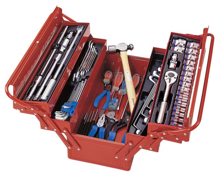 Набор столярно-слесарного инструмента KING TONY 902-065MR01 универсальный раскладной ящик 65 предметов 902-065MR01