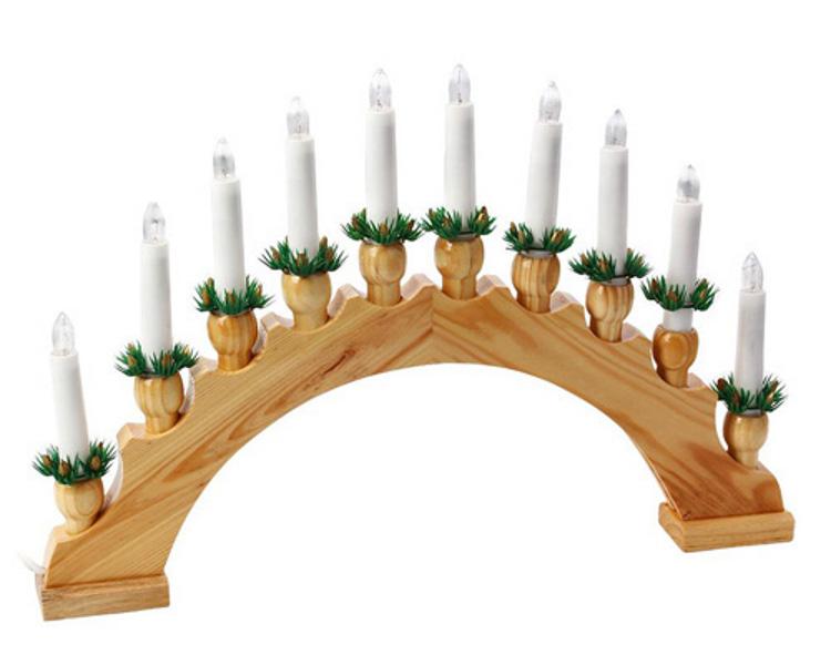 Светильник новогодний Snowhouse Рождественские Свечи 30х50 см