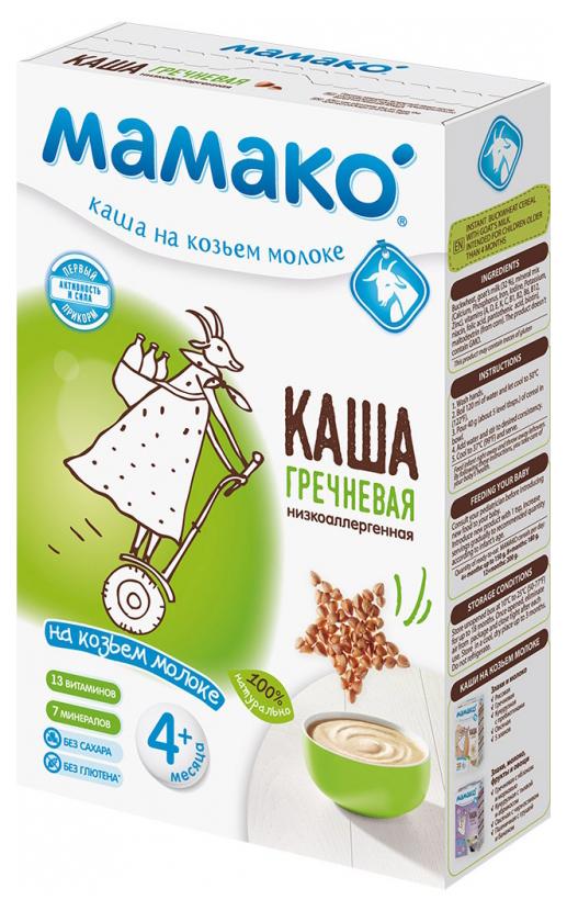 Молочная каша МАМАКО Гречневая на козьем молоке с 4 мес 200 г