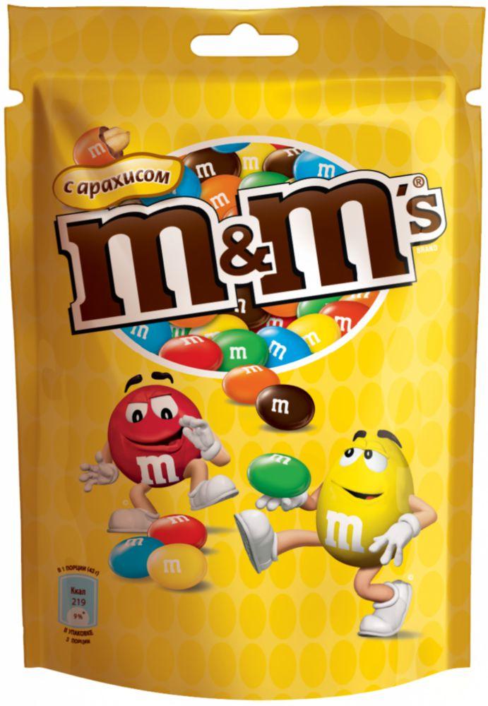 Драже M#and#M\'s  с арахисом и молочным шоколадом 130 г
