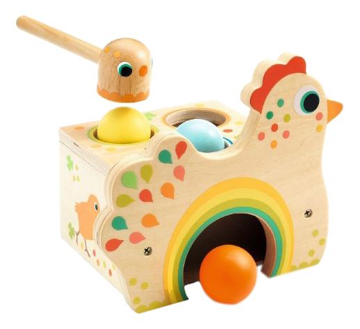 Купить Деревянная игрушка для малышей Djeco Курочка, Развивающие игрушки