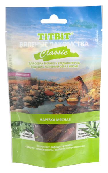 Лакомство для собак TiTBiT Вяленые лакомства, нарезка мясная Classic, говядина, 50г