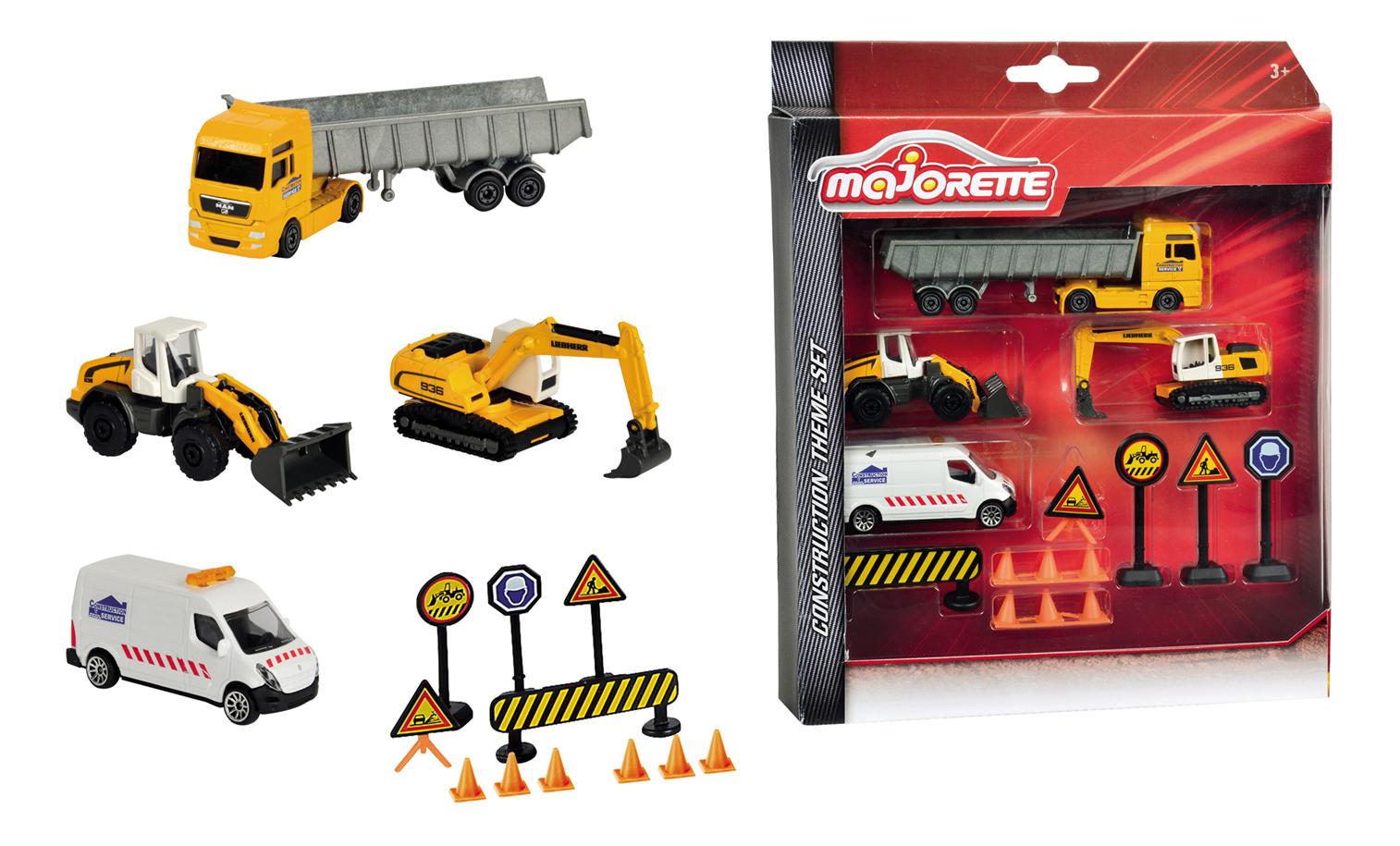 Купить Дорожные знаки, Строительная техника Simba Majorette Строительная техника и дорожные знаки 2057971,